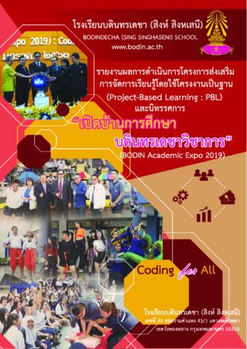 สรุปโครงการ PBL และนิทรรศการวิชาการ ปีการศึกษา 2562